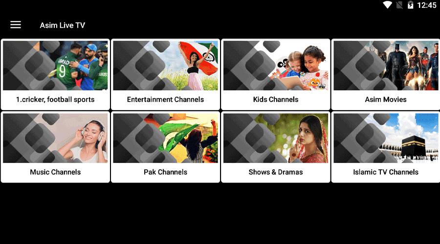 Asim TV Live TV Free Streaming-New IPTV APK 1