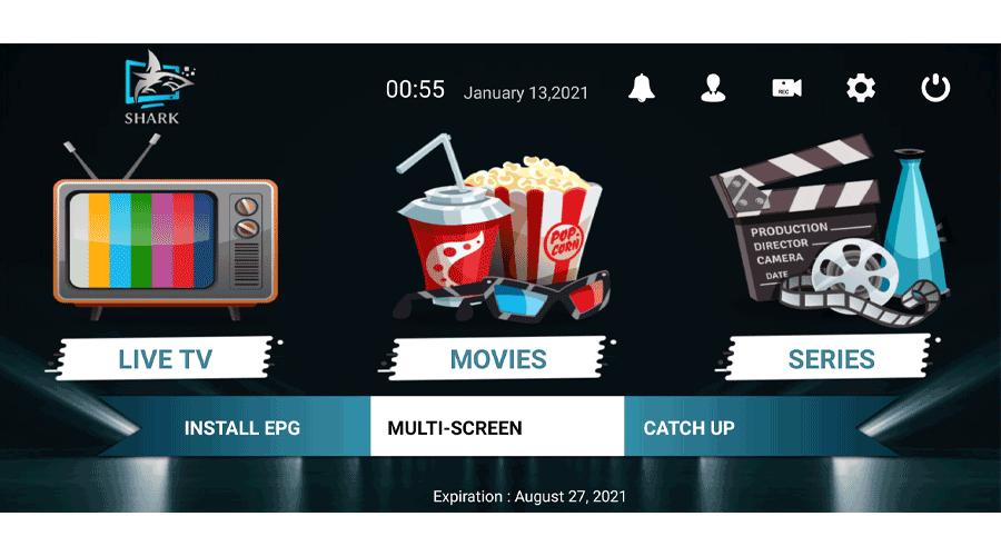 Shark IPTV Pro 2.2.6 With Full activation VIP IPTV Apk 1